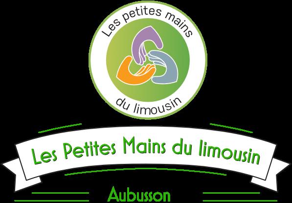 Logo complet de la friperie Les Petites Mains du Limousin
