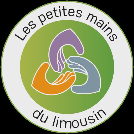 Logo en rond de la friperie Les Petites Mains du Limousin
